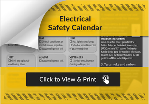 Electrical Safety Calendar